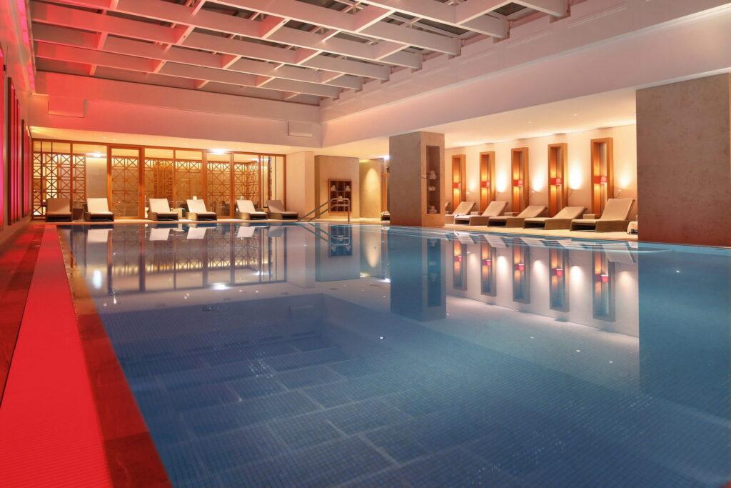 Pool im Severin's. Der Weinkeller ist einer der Highlights